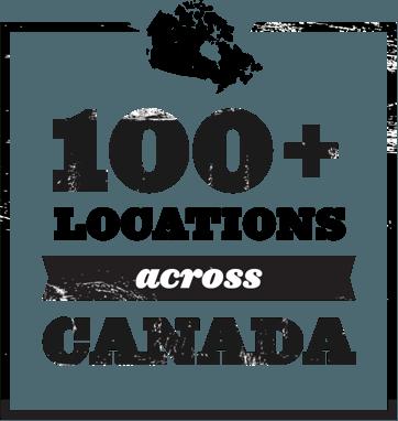 100+ locations across Canada