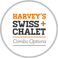 Harvey's + Swiss Chalet combo options