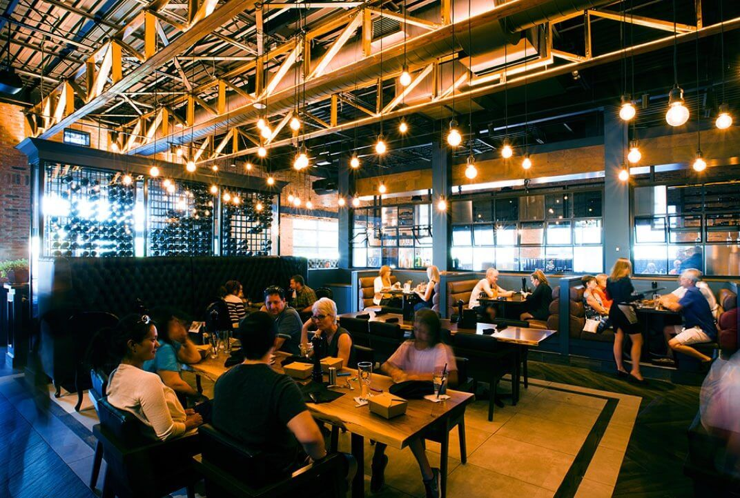 Milestones interior with diners
