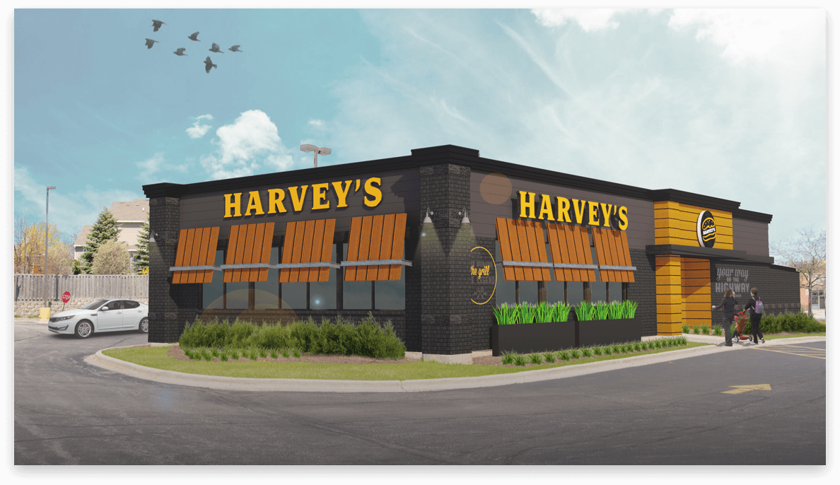 Harvey's restaurant 3D exterior