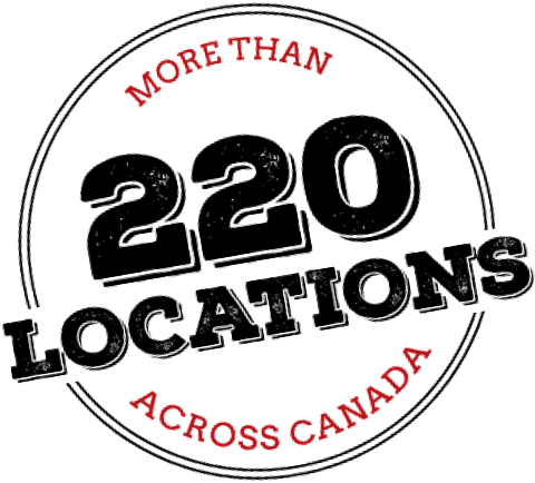More than 220 locations across Canada