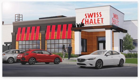 Restaurant after converted to Swiss Chalet