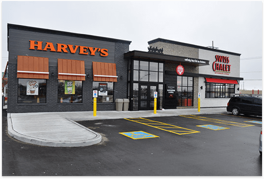 Harvey's and Swiss Chalet large combo exterior