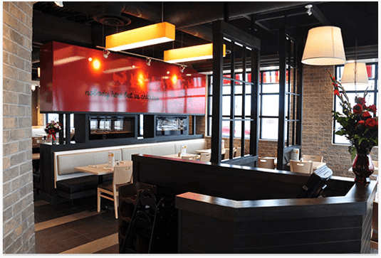 Inside a Swiss Chalet and Harvey's combo