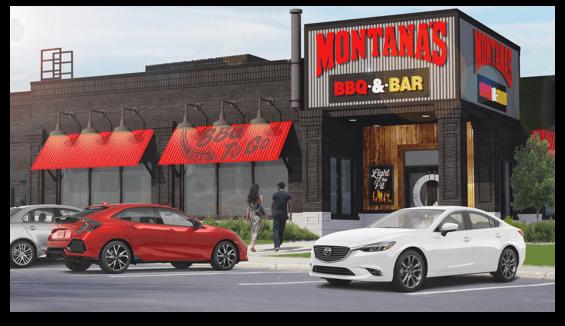 Montana's restaurant after conversion