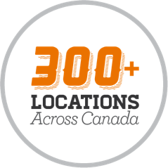300+ locations across Canada